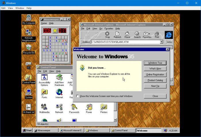 Windows 95 vira aplicativo para Windows, macOS e Linux – Aplicativos