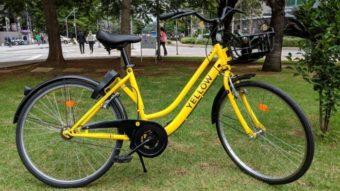 Yellow, serviço de bicicletas compartilhadas sem estações fixas, já opera em SP