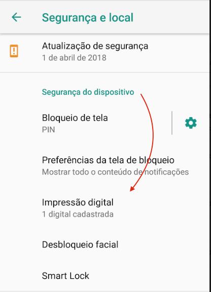 Bloqueio de Tela Android Digital e acial