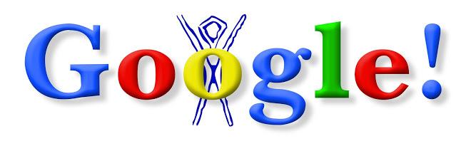 Burning Man, o primeiro Doodle Google (Imagem: Divulgação / Google)