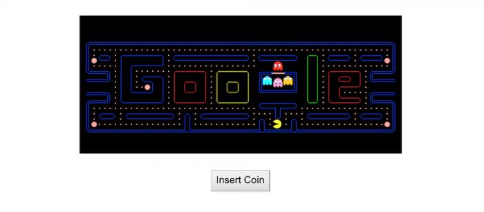 Doodle PacMan Google