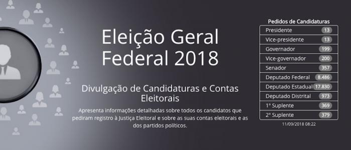 Eleicoes 2018 - TSE