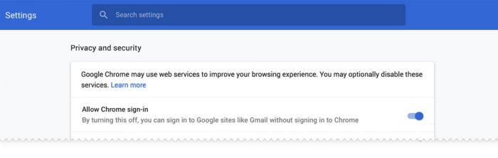 Google Chrome 70 permitirá desativar login automático