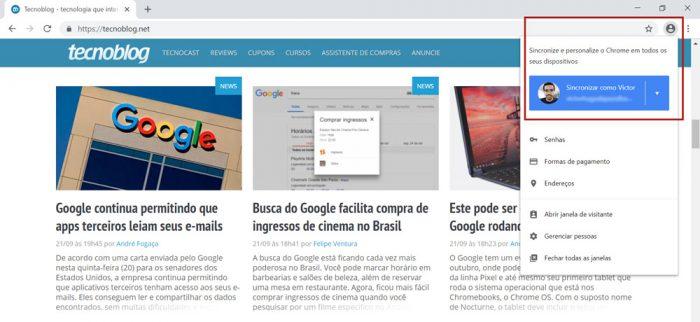 Google Chrome Login