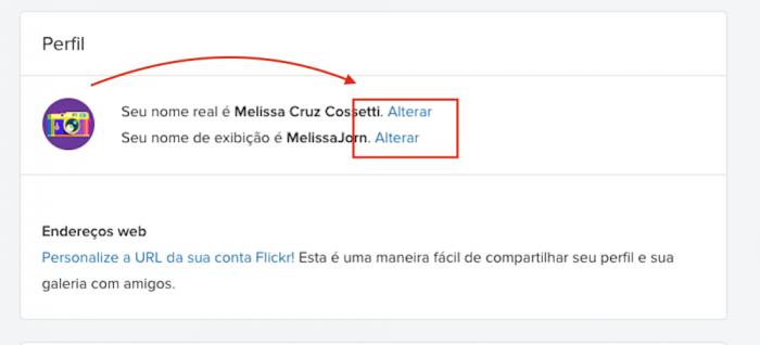 Mudar seu nome Flickr