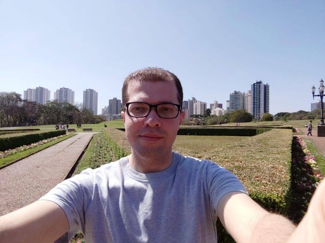 Selfie registrada com o Asus Zenfone 5Z