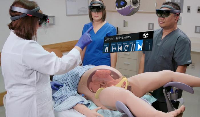Realidade Mista Microsoft Saúde