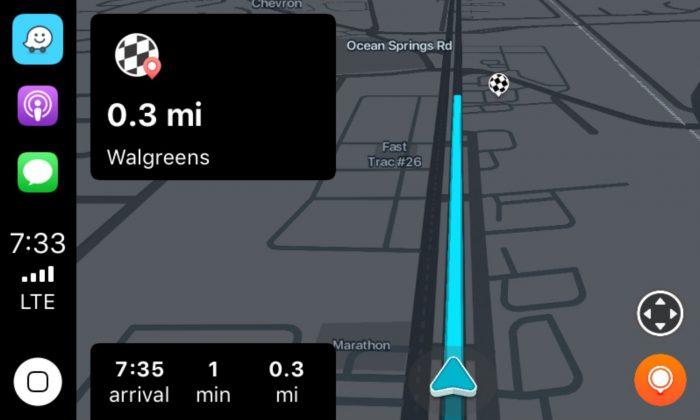Waze no Apple CarPlay