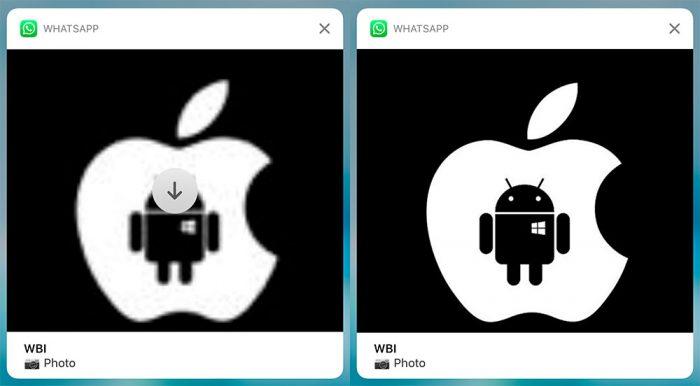 Imagem na notificação do WhatsApp para iOS
