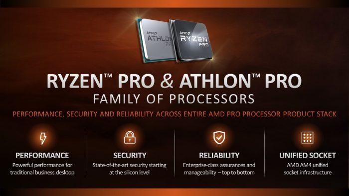 AMD Athlon + Ryzen Pro