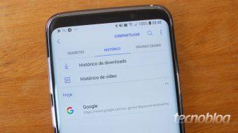 Como apagar o histórico do celular Samsung Galaxy