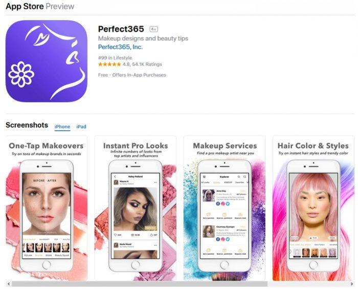App Store - Perfect365