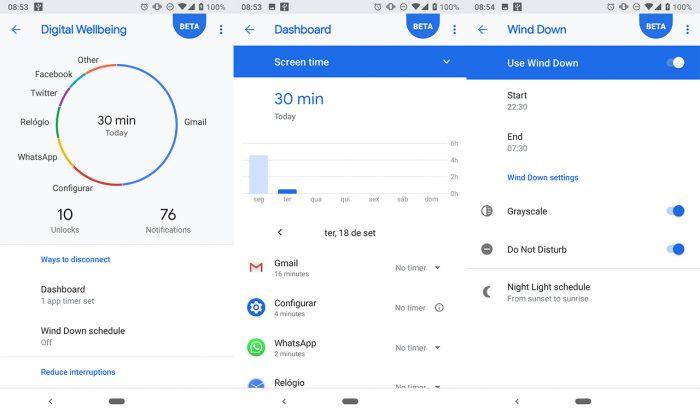 Android 9 Pie ganha bem-estar digital em toda a linha Google