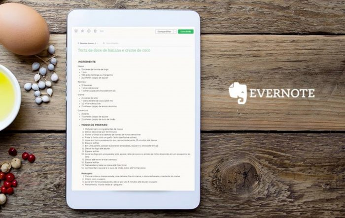 Evernote - tablet