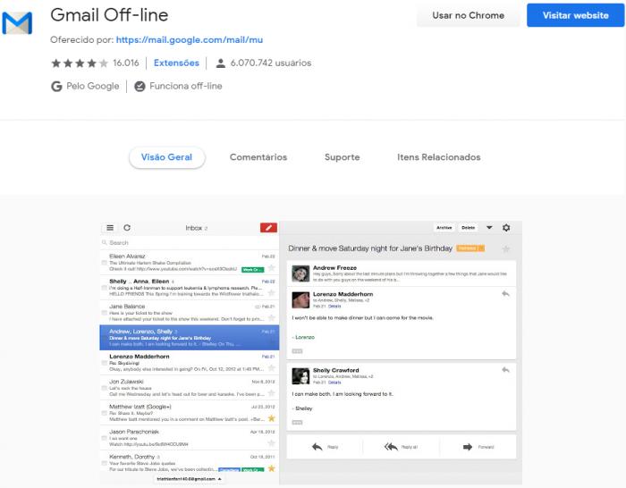 Google vai remover app Gmail Off-line para Chrome – Computador