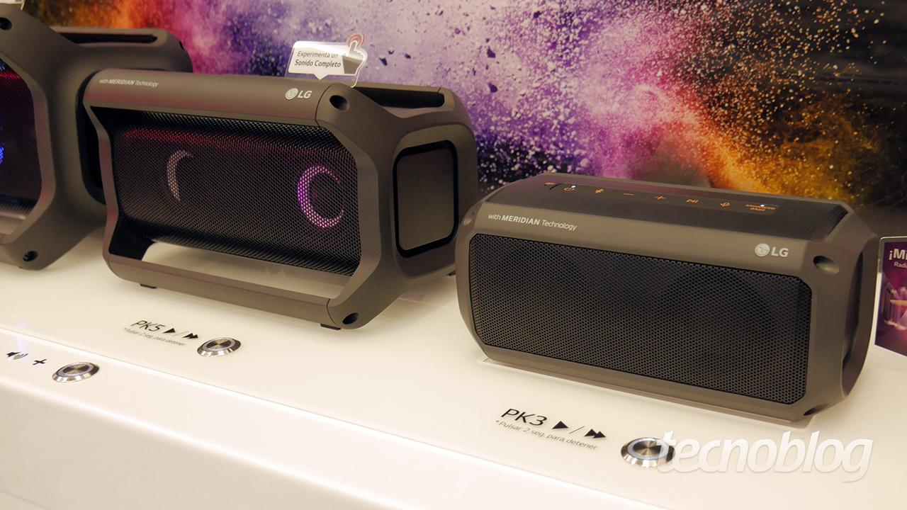 LG PK3, PK5 e PK7 são caixas de som Bluetooth cheias de luzes que estão chegando ao Brasil – Tecnoblog