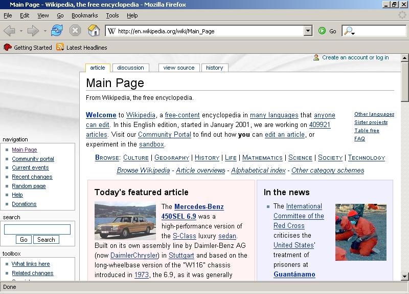 O primeiro Firefox (Imagem: Wikipedia)