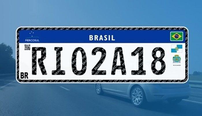 Placa padrão Mercosul - Rio de Janeiro