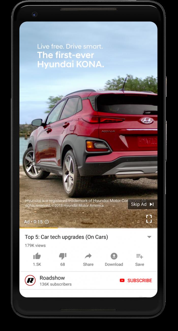 YouTube vai exibir anúncios na vertical em smartphones –