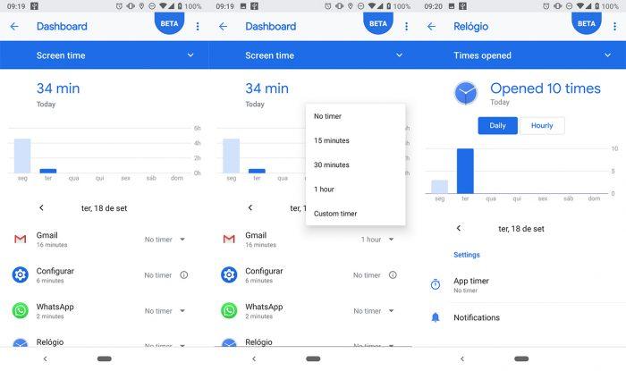 Como limitar o tempo de uso em aplicativos no Android 9 Pie