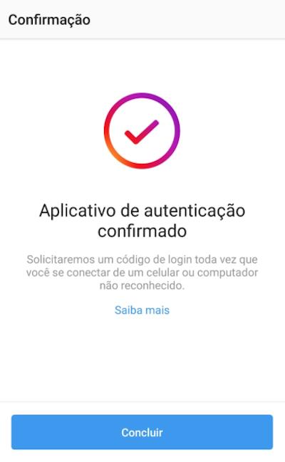 Aplicativo de Autenticação Instagram