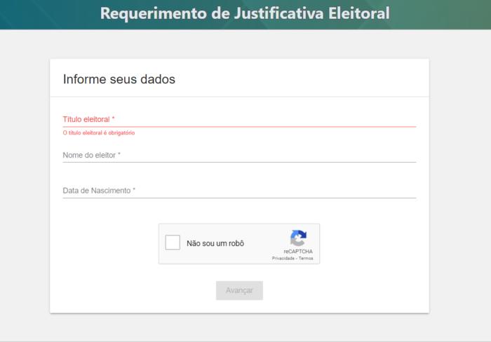 Como justificar o voto pela internet no site do TSE