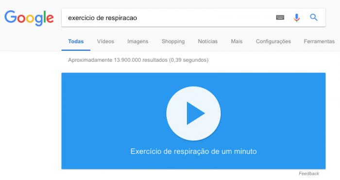 Exercicio de Respiração - Google
