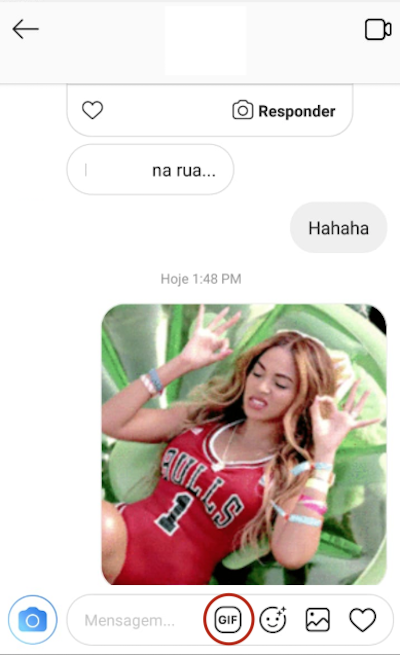 GIF Direct Message Instagram