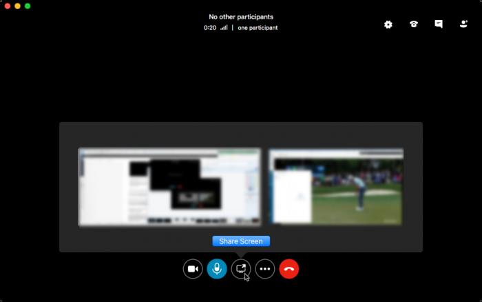 Skype Compartilhar Monitores