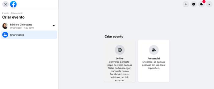 Eventos presenciais e online (Imagem: Reprodução/Facebook)