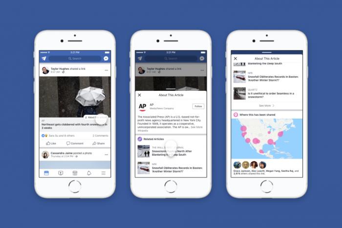 Facebook - Botão de contexto