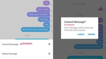 Facebook Messenger testa recurso para desfazer envio de mensagens