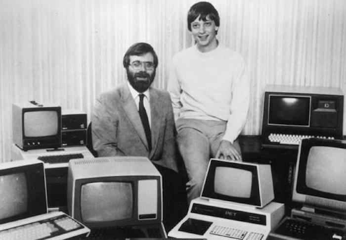 Paul Allen (à esquerda) e Bill Gates (à direita), em 1981 (Foto: Microsoft)