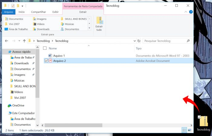pasta zipada windows / Reprodução