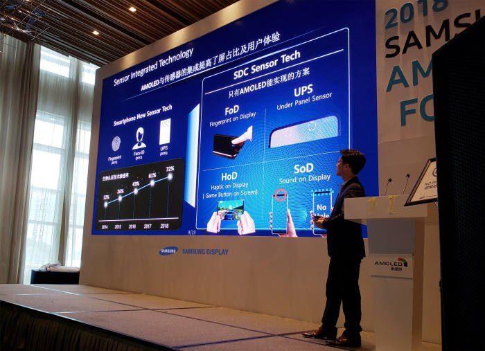Samsung prepara celulares com câmera frontal sob a tela (Foto: Reprodução/Twitter)