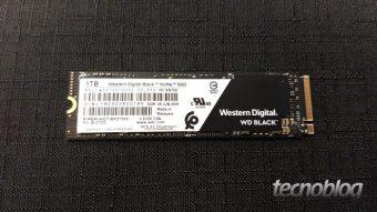 WD Black NVMe é o SSD para games da Western Digital