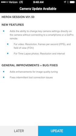Update GoPro