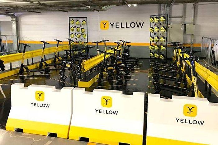 Patinetes da Yellow (Imagem: Exame)