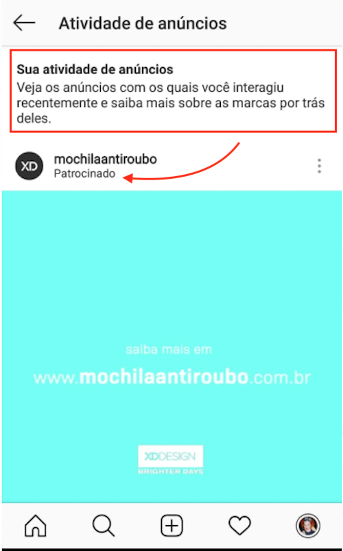 Anúncios Instagram que Curti