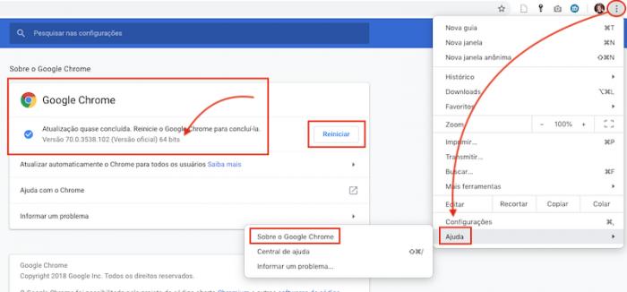 Atualizar Google Chrome