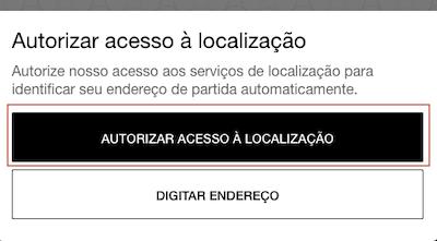 Autorizar Localização Uber