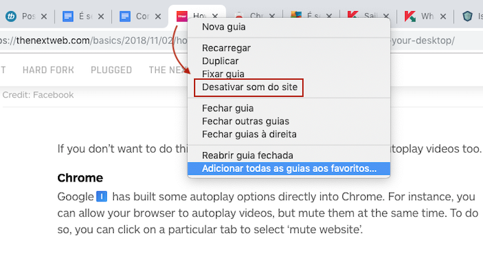 Chrome Mute Tab