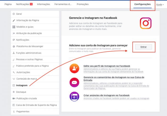 Desconectar Instagram de Página no Facebook