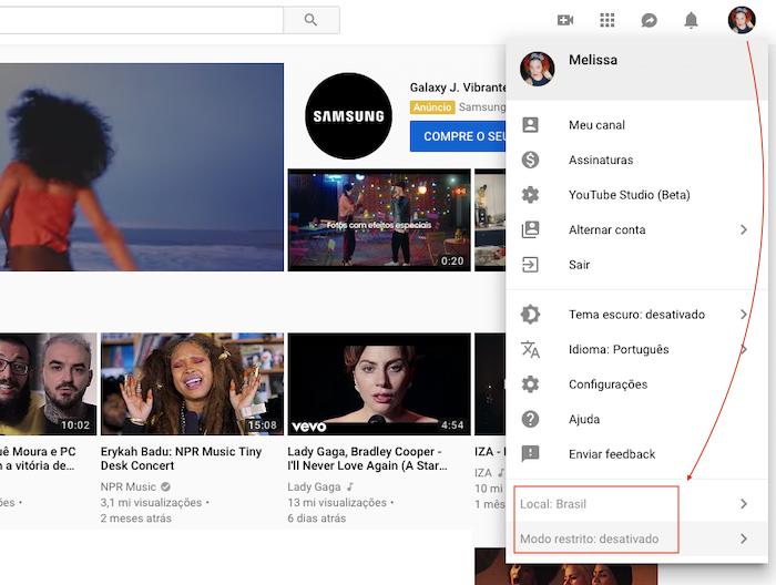 Modo Restrito YouTube