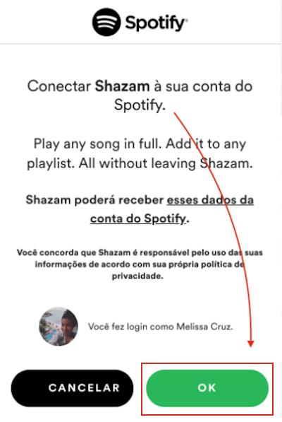 Spotify + Shazam - Integração