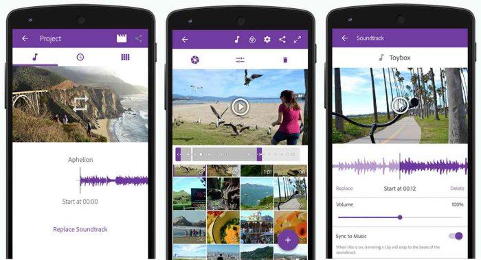 Adobe Premiere Clip / Android / aplicativo de fazer vídeo