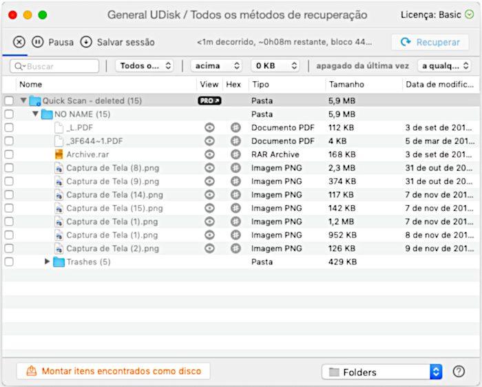 Disk Drill / recuperar fotos apagadas do cartão de memoria