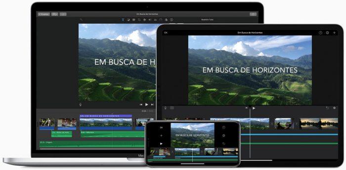 iMovie / iOS e macOS / aplicativo de fazer vídeo