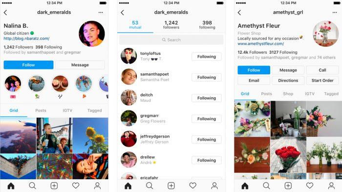 Instagram está testando novo visual para a página de perfil