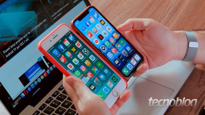 iPhone 8 Plus e iPhone XS / acesso pessoal iphone